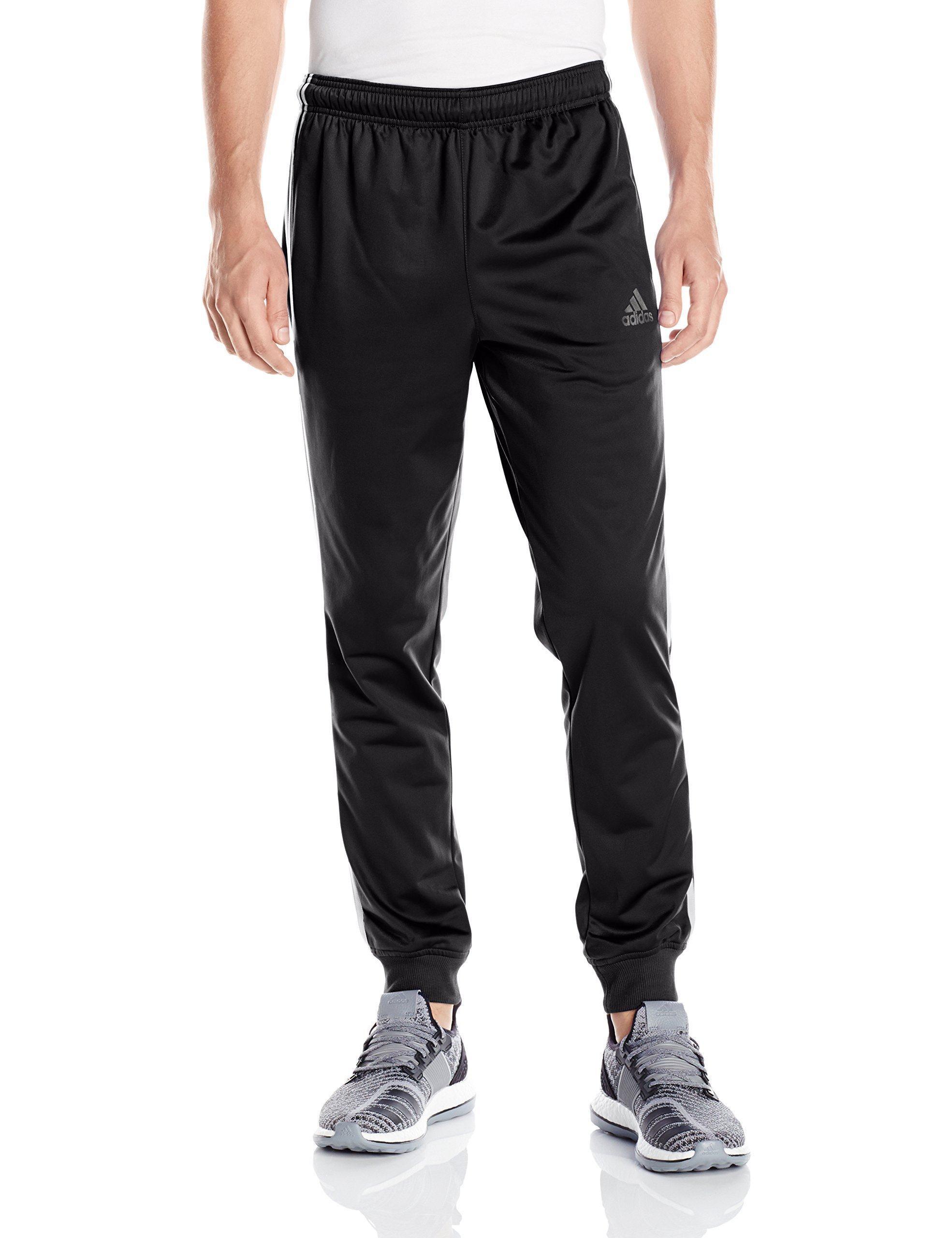 adidas Men's Essentials Tricot Jogger Pants, Black/White, X-Large by adidas