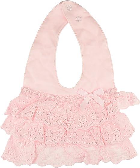 Babero de algodón suave con volantes para niñas rosa rosa Talla:talla única: Amazon.es: Bebé