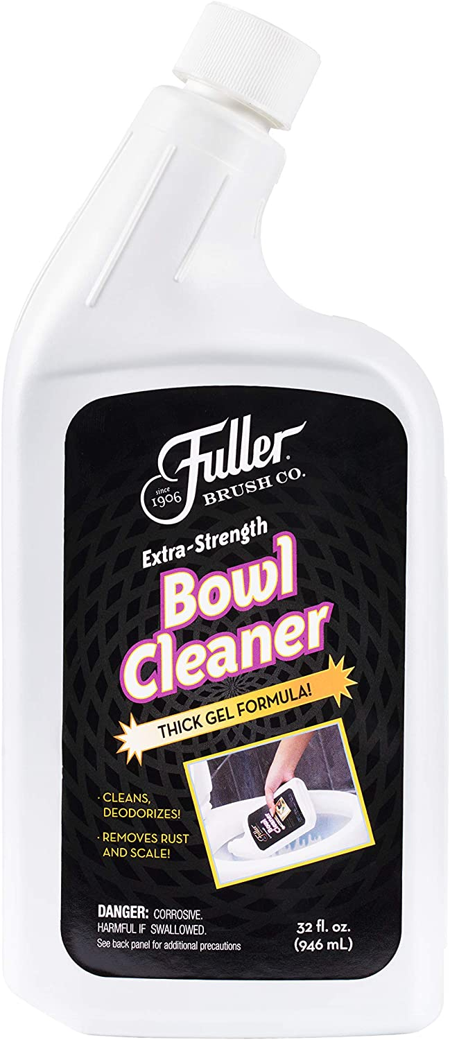 Fuller Brush Extra-Strength Bowl Cleaner - Powerful Professional Toilet Cleaning Gel Solution - Cleans, Descales & Deodorizes Bathroom Bowls - For Odor & Clean Home & Business Restroom