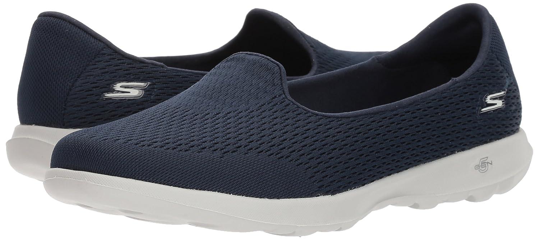 Skechers Women's Go Walk Lite-15410 Loafer Flat B0721TQ3BX 5 B(M) US|Navy/Gray
