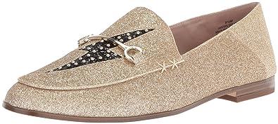 1106b941315 Nine West Women s WILDGIRLS Loafer Flat Light Gold Synthetic 5 Medium US