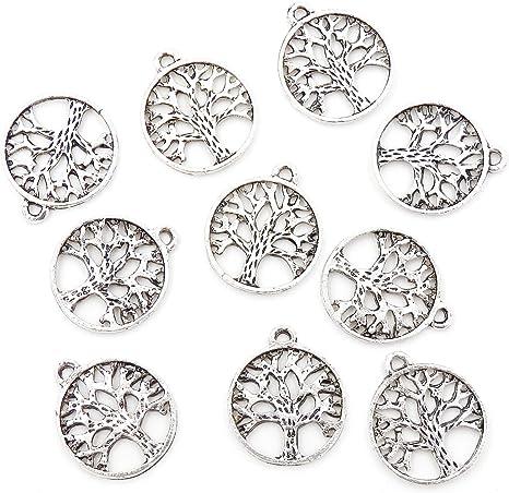 10//100Pcs Tibetan Silver Charms Big Hole European Snowflake Spacer Beads 7x14mm