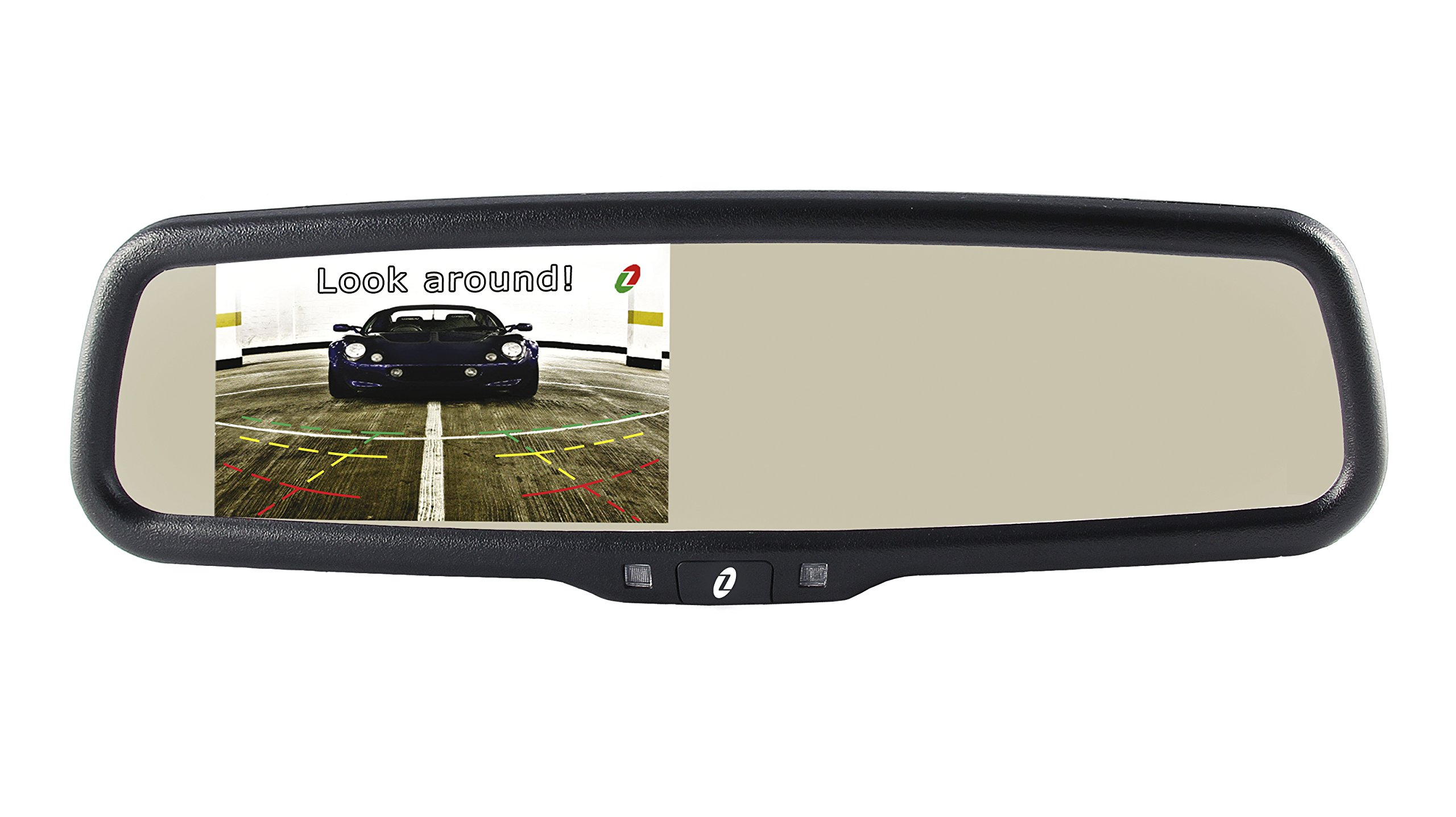 Gazer MM507 4.3'' LCD BMW Peugeot Ford Volvo Citroen Original Car Rearview Mirror / 1000 cd/m2 High Brightness / Integrated OEM Mount / 2 Video Inputs / Brightness Adjustment, Display Turning On-Off