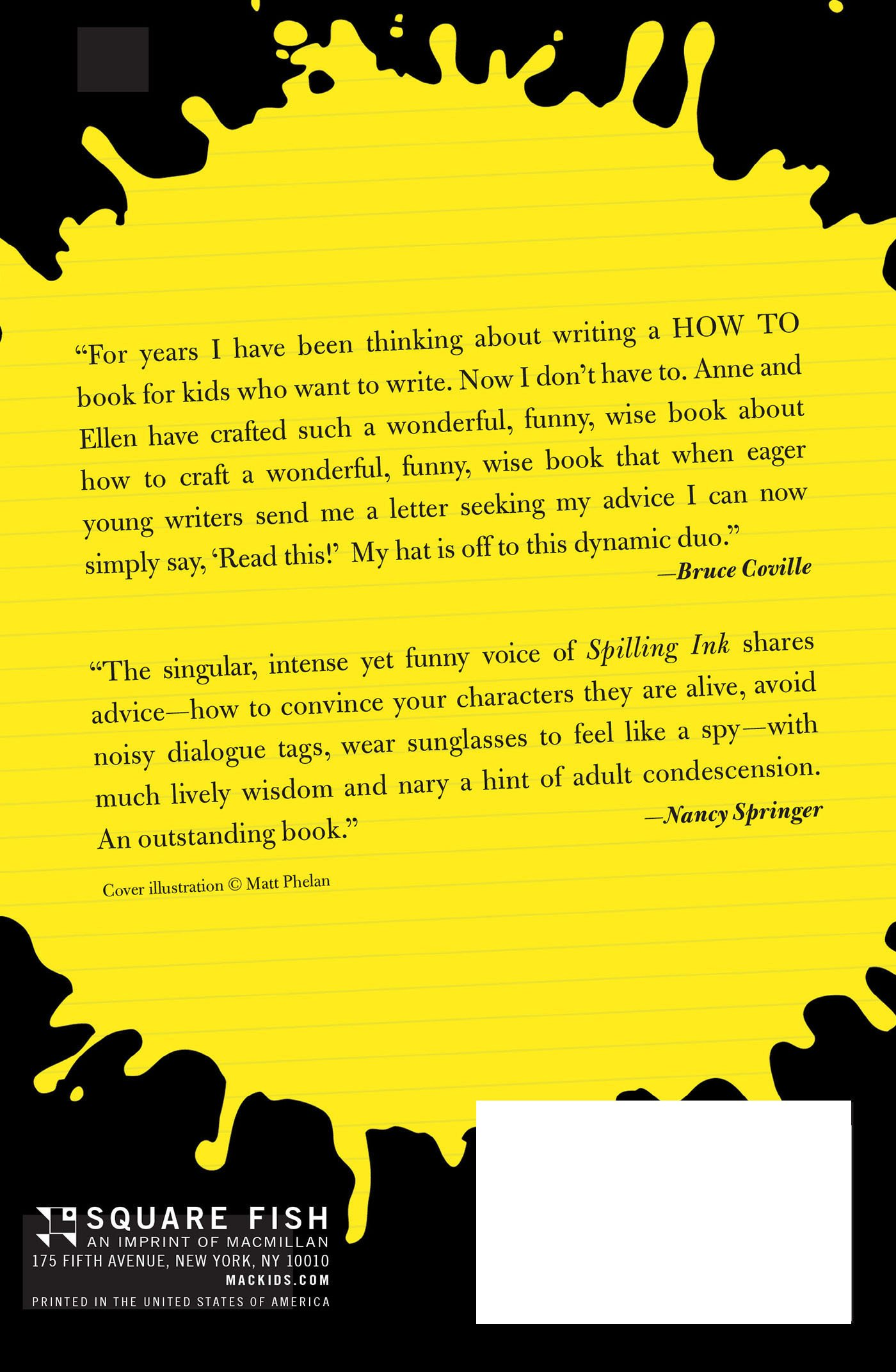 Spilling Ink A Young WriterS Handbook AmazonCoUk Ellen Potter