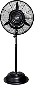 Luma Comfort, MF24B, 24 Inch Commercial Misting Fan with 3 Speed Settings, 800 Square Foot Effective Range, Black