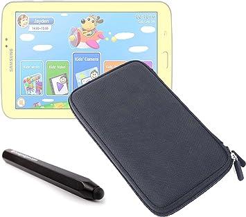 DURAGADGET Estuche Rígido Negro con Cremallera para Tablet Samsung Galaxy 3 Kids + Lápiz Stylus Táctil Color Negro: Amazon.es: Electrónica