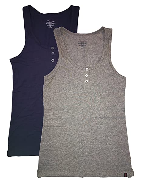 fe213d2e03b40d Tommy Hilfiger Henley Tank 2 pack at Amazon Women's Clothing store: