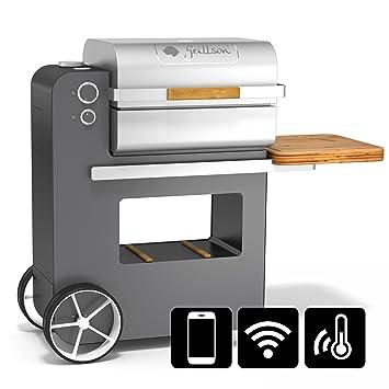 grillson 1012 de S Bob Premium S Pellet Barbacoa unas Negro/Antracita con aplicación de
