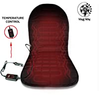 VaygWay Heated Car Seat Cushion – 12V Car Seat Heater Warmer - Heated Seat Cushion for Car – Adjustable Temperature and Timer Remote