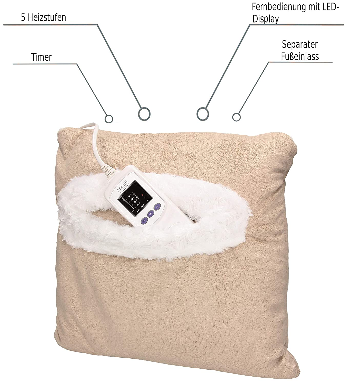 Elektro-Heizkissen Heiz-//Wärmekissen Bezug waschbar Wärme-Kissen Wärmetherapie