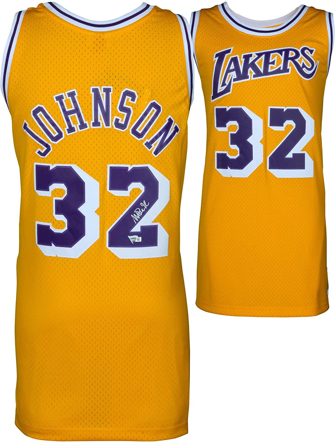 Magic Johnson Los Angeles Lakers Autographed Gold Mitchell & Ness Hardwood Classics Swingman Jersey - Fanatics Authentic Certified
