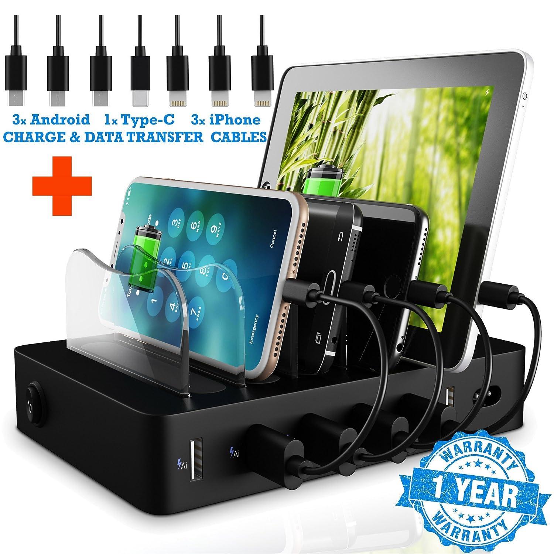 Amazon.com: FAST Charging Dock - LED 6 USB Charging Station - NO ...