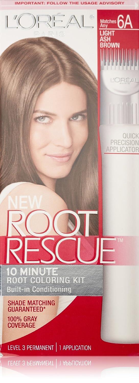L'Oreal Paris Root Rescue Hair Color, 6A Light Ash Brown