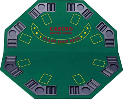 Lovely Fat Cat Folding Blackjack/Poker Game Table Top: Octagon Layout, 8 Player