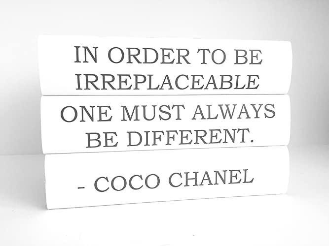 Amazon Com Coco Chanel Quote In Order To Be Irreplaceable One