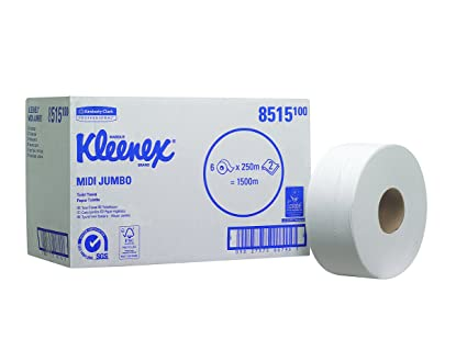 Kleenex 8515 Rollo de Papel Higiénico Jumbo, 6 X 625 Servicios con 2 Capas,