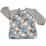 Luxja Wasserdicht Baby lätzchen, lange ärmel lätzchen für kleinkinder beim Essen und Spielen Smock Schürze für Kleinkinder (6-24 monate)