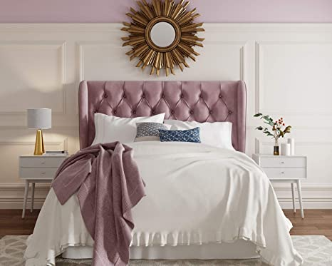 Outstanding Lillian August Harlow Headboard Queen Mauve Onthecornerstone Fun Painted Chair Ideas Images Onthecornerstoneorg