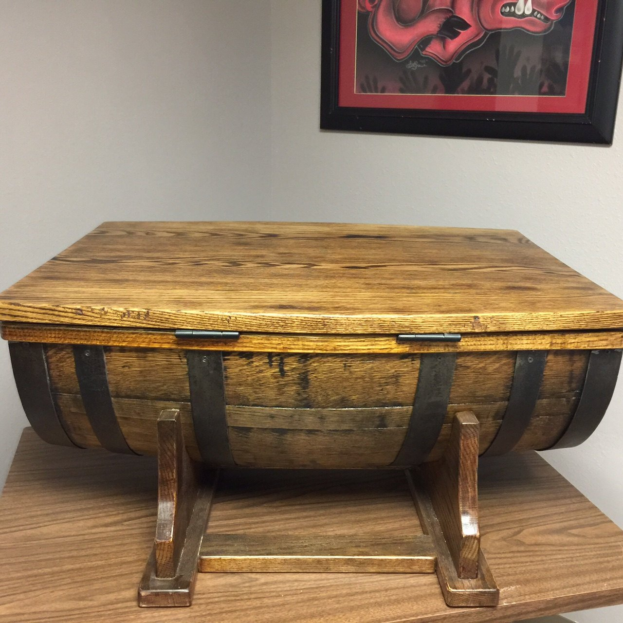 Amazon whiskey barrel coffee table kitchen dining geotapseo Images