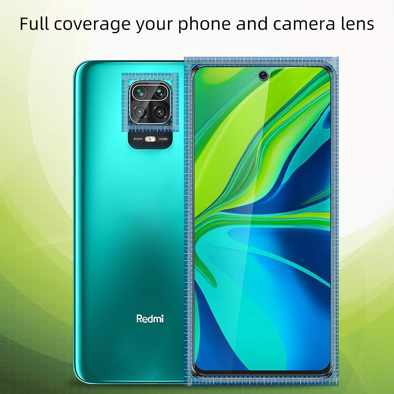 Kamera Panzerglas f/ür Xiaomi Redmi Note 9s // Note 9 Pro//Note 9 Pro Max Panzerglas Displayschutzfolie. 2+2 St/ück UniqueMe Schutzfolie