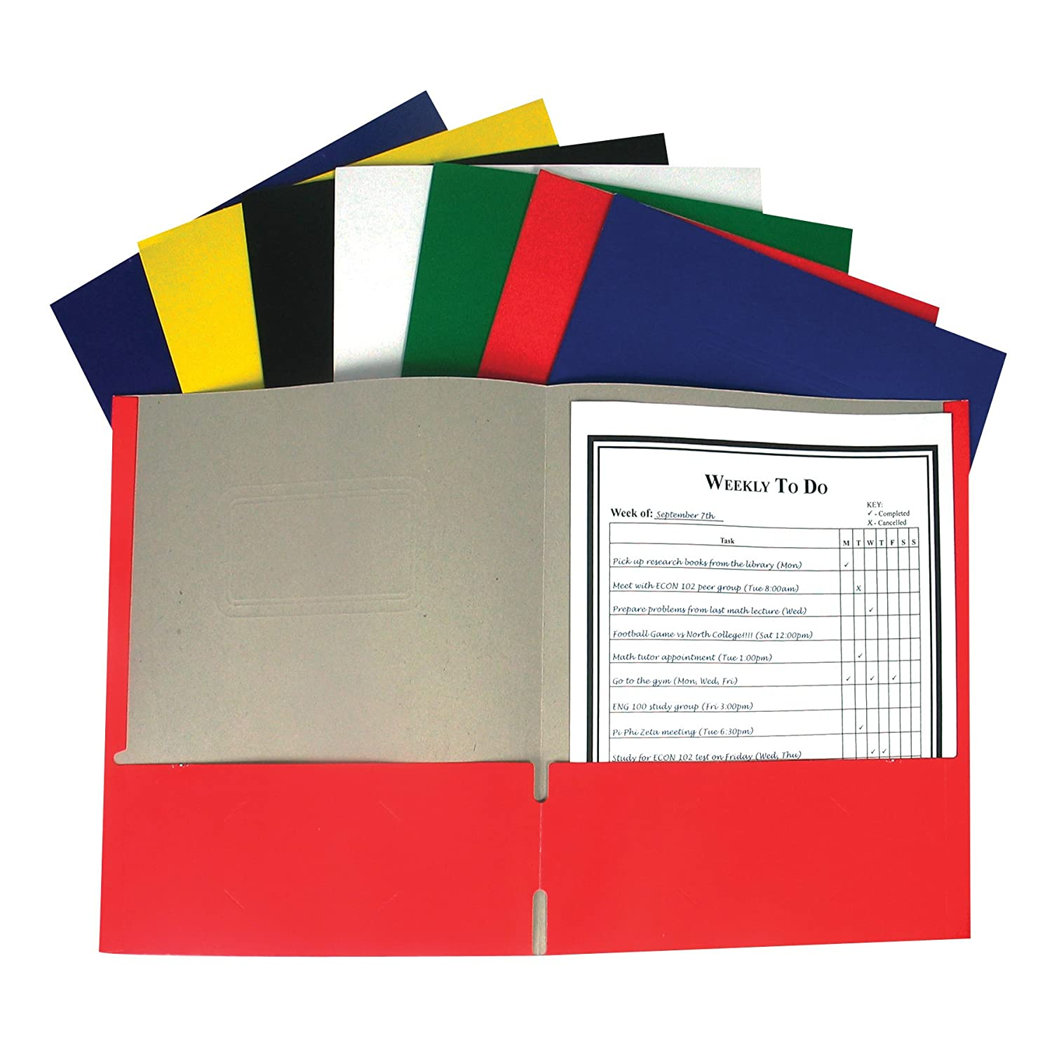 classroom set of student folders