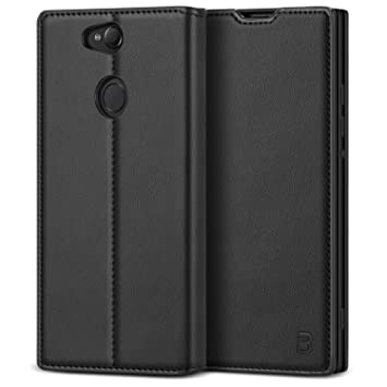 online store c6e87 7d00c BEZ Case for Sony Xperia XA2 Case, Protective PU Leather Flip Wallet Phone  Cover Compatible with Sony Xperia XA2 with A Card Holder, Kick Stand, ...