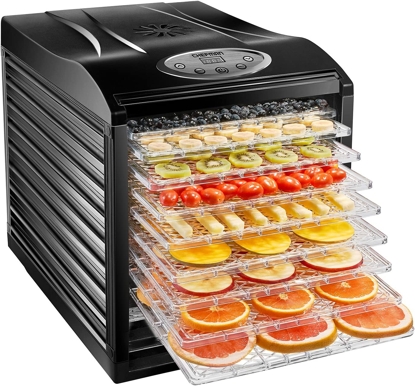 Denver Mall Chefman low-pricing 9-Tray Food Dehydrator Machine Professional Mul Electric