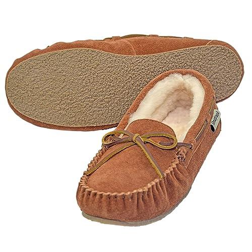 71fa60e47773 Sheepskin Loafer Moccasin Slipper with Non-Slip Sole (Order one Size ...