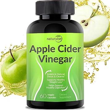Amazon Com Apple Cider Vinegar Capsules 1300mg Tasteless Natural