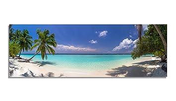 Pix Visions Leinwand Bild Bilder Karibik Palmen Strand Wasser Sand