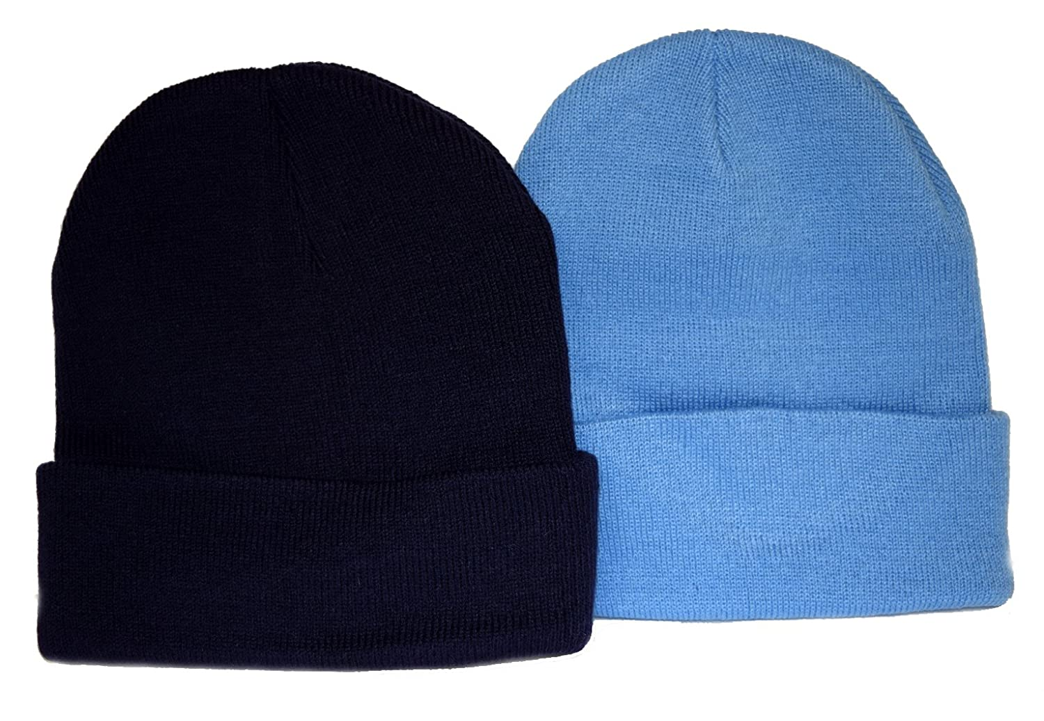 Holiday Deals! 2 Pack Knit Beanies/ Navy & Sky Blue