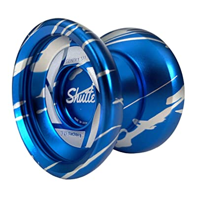 YoYoFactory Shutter Yoyo Color Blue with Silver Splash Gentry Stein Non-Responsive: Toys & Games