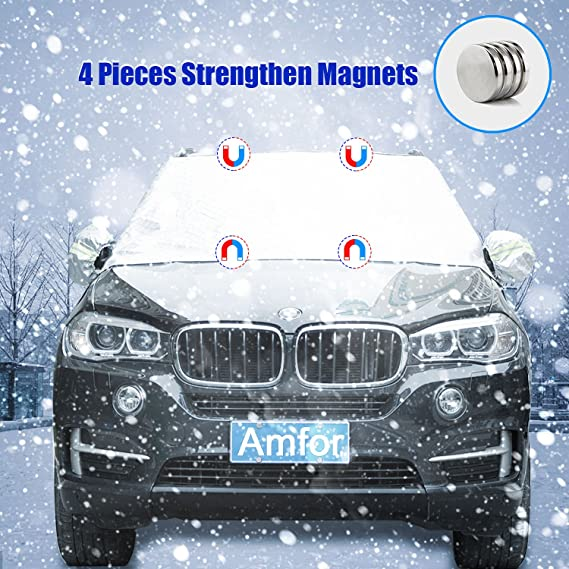 Outdoor Protection Car Front Window Sand Control UV Protection Rain Waterproof Aluminum Membrane Breathable Protective AmFor Car Windshield Snow Shield