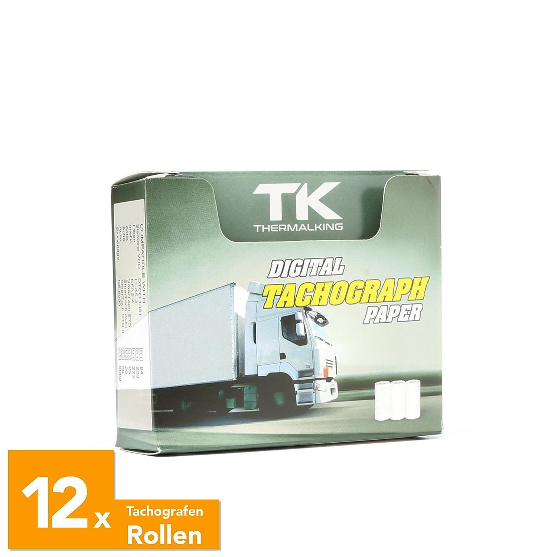 12 Stk. zertifizierte Tachorollen – Tachographenpapier – Thermorollen/Thermopapier für sämtliche digitalen LKW-Tachographen/Fahrtenschreiber – 57/8mm – Thermal King