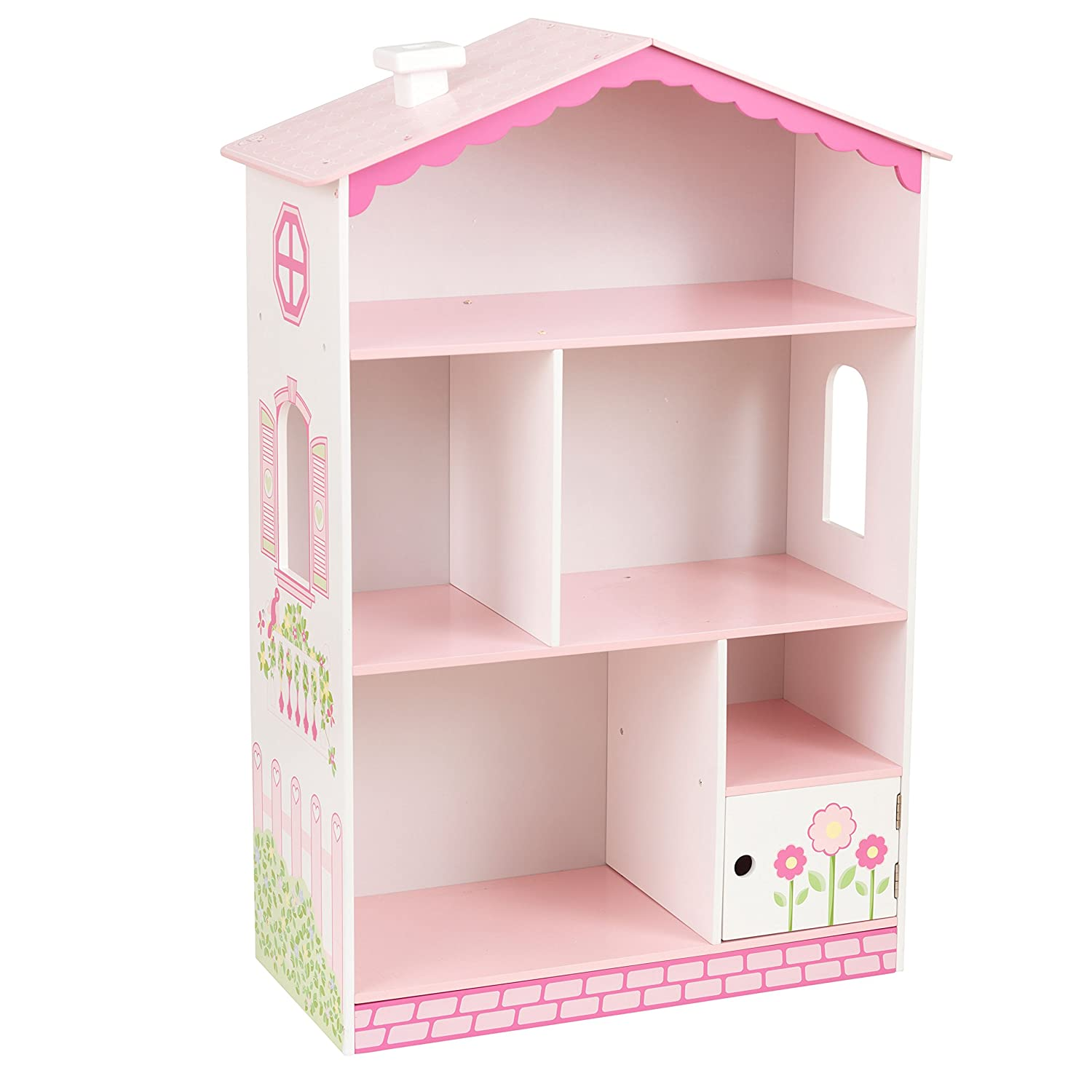 KidKraft 14604 Wooden Doll House Cottage Bookcase