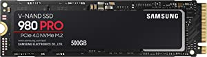 SAMSUNG 980 PRO 500GB PCIe NVMe Gen4 Internal Gaming SSD M.2 (MZ-V8P500B)