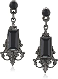 """product image for 1928 Jewelry """"Bonne Nuit"""" Vintage-Inspired Chandelier Earrings"""
