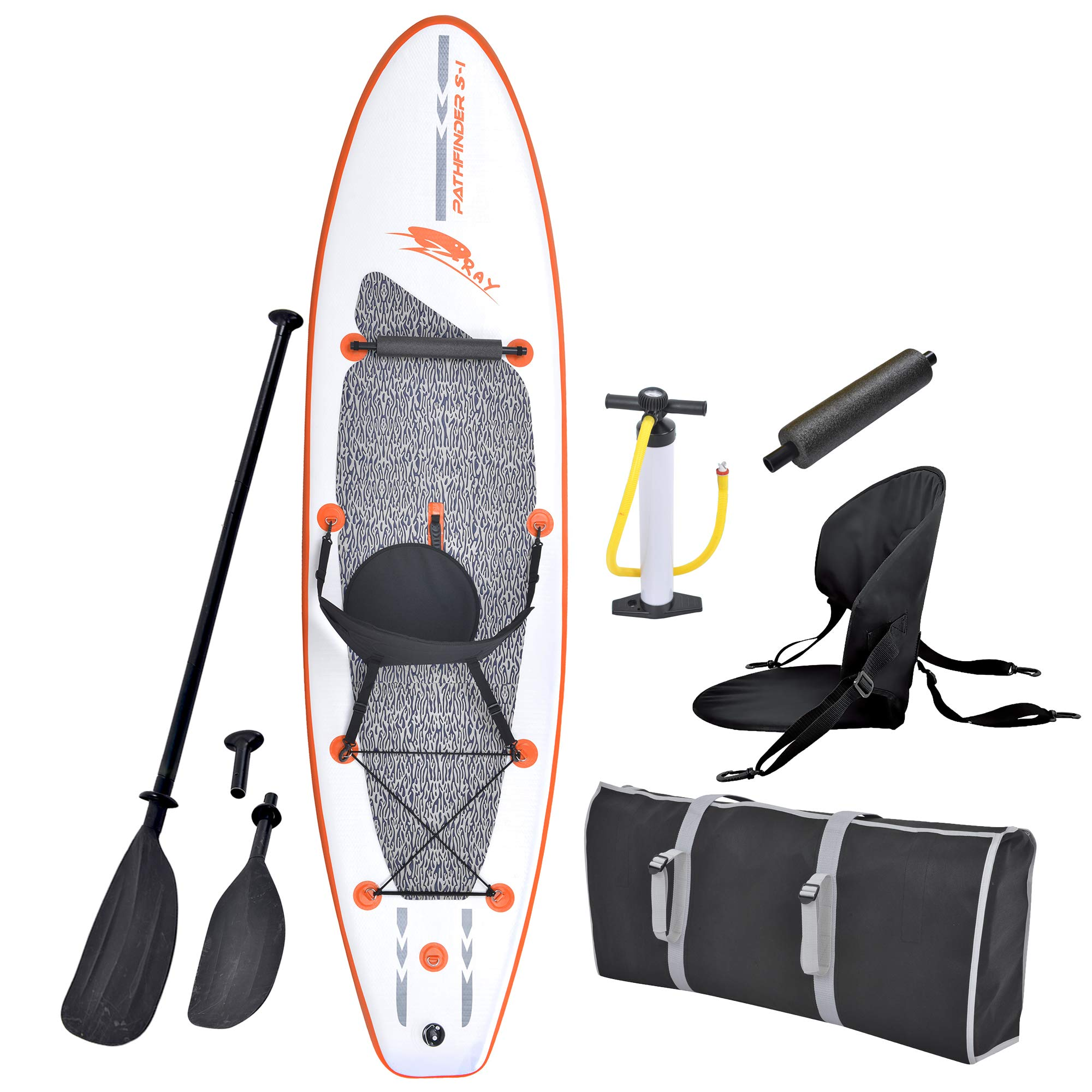 Blue Wave Sports Stingray Inflatable Stand Up Paddleboard with Paddle and Hand Pump, 10-Feet by Blue Wave Sports