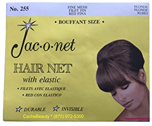 Jac-O-Net Tiny Mesh Hair Net--Bouffant/Large Size, Blonde,1 Net Per Pack [Pack of 12]