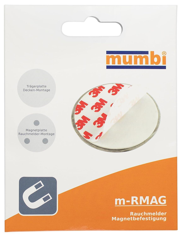 mumbi Support Magn/étique pour les D/étecteurs de fum/ée pas pour les copeaux de Bois Ni pour Le Pl/âtre pour surfaces lisses /Ø70mm, Jeu de 6