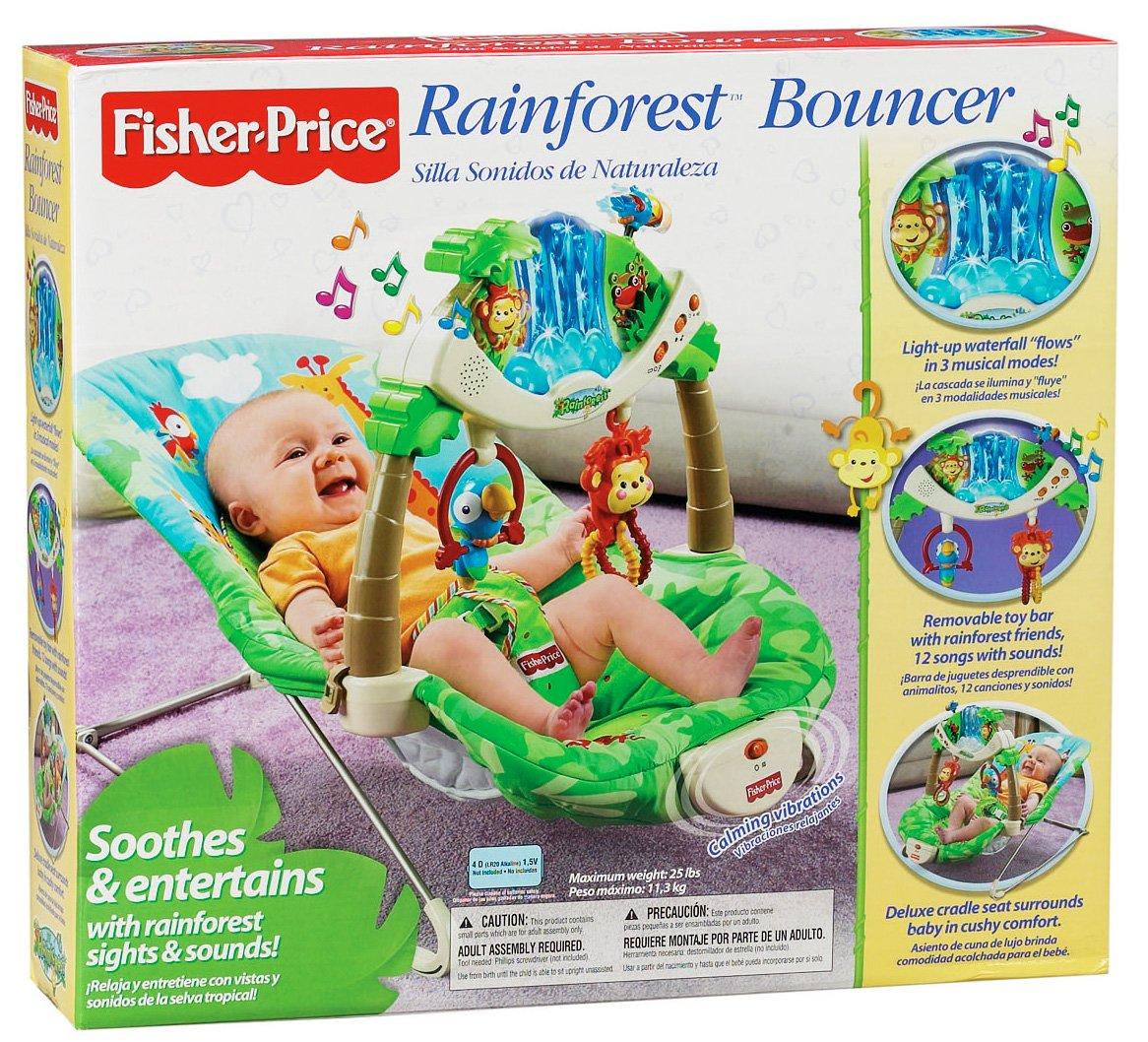 amazon com fisher price rainforest bouncer infant bouncers and rh amazon com Fisher-Price Rainforest Jumperoo Fisher-Price Rainforest Friends