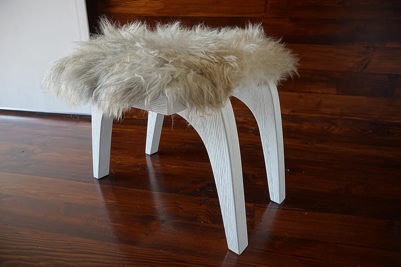 Eichenholz Minimalistisch Mit Stuhl Weiß Hocker Echtem PkXiuZTO