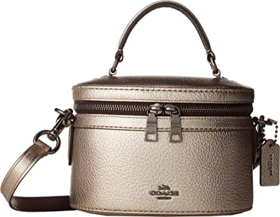 a6713c8b4145 COACH Women s Metallic Trail Bag Gunmetal Platinum One Size  Handbags   Amazon.com