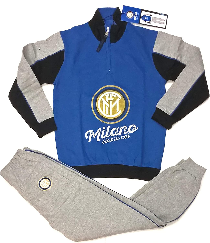 Pijama de Felpa del F.C. Chándal Oficial del Inter para niño ...