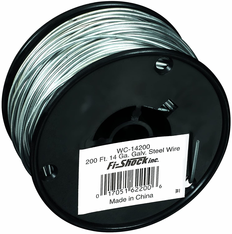 Amazon.com: Fi-Shock WC-14200 200-Feet, 14 Gauge Spool Galvanized ...