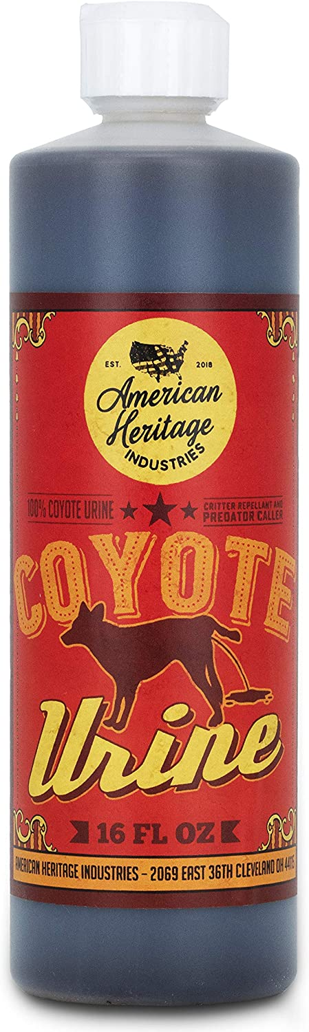 American Heritage Industries 16 oz Coyote Urine- Protect Your Garden with Real Predator Urine, an Product
