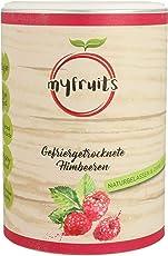 myfruits® Himbeeren - gefriergetrocknet - ohne Zusätze, zu 100% aus Himbeeren, gesunde Zutat für Müsli oder Porridge (1er Pack)