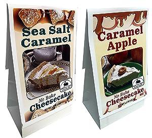 Rabbit Creek Gourmet No Bake Cheesecake Mix Variety Pack of 2 – Caramel Apple and Sea Salt Caramel Easy Cheesecake Mix
