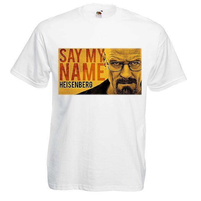 Camiseta Hombre Say My Name - camiseta Breaking Bad 100% algodon LaMAGLIERIA: Amazon.es: Ropa y accesorios