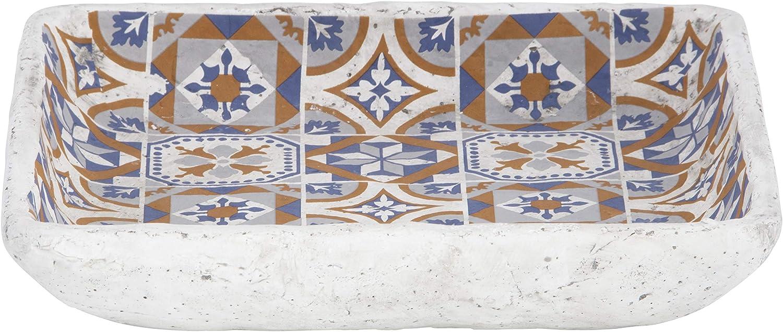 Grau Orange Blau portugiesische Fliesen Esschert Design AC182 Vogeltr/änke